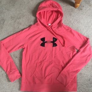 coral/pink under armour sweatshirt size m